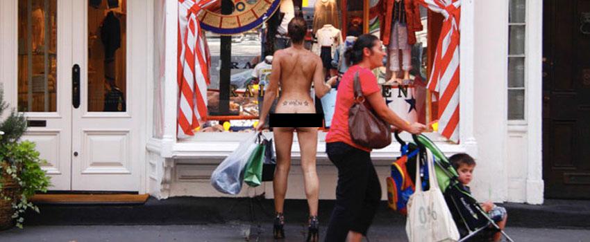 walk around naked