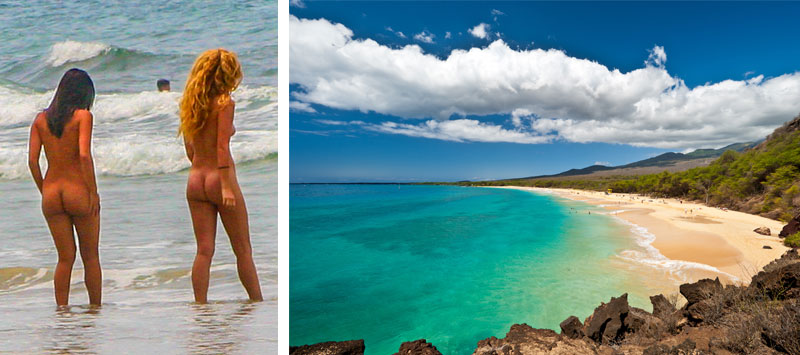 Couple enjoying hawaiian nudeist beach — img 3